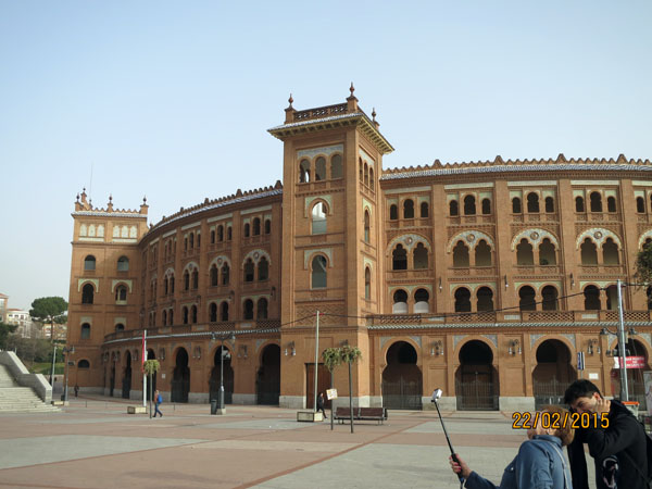 Madrid bull fighting ring