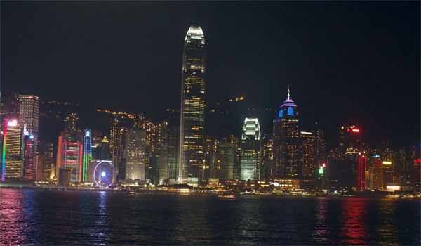 HK harbour at night