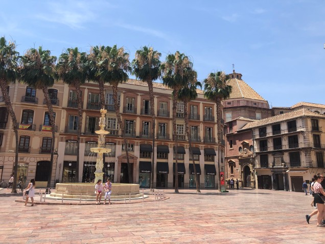 A major square in Malaga