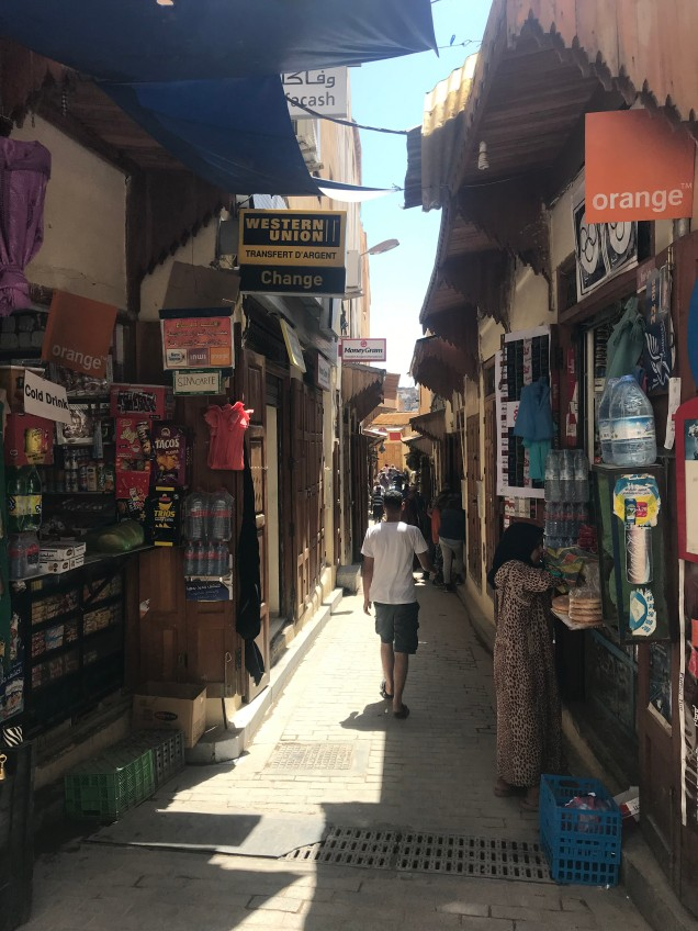street scene in Fes Medina
