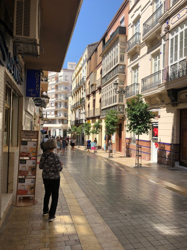walking street in Malaga