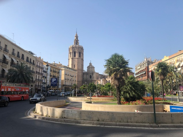 Major square in Valencia